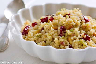 Dried Cranberry Bulgar Salad by Nicky @ Delicious Days