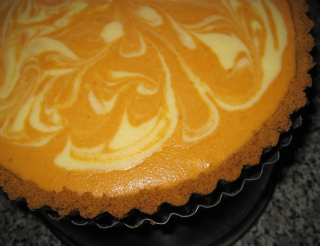 Pumpkin Pie Swirl Cheesecake